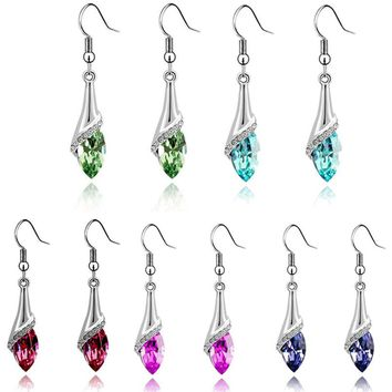 Crystal Marquise Cut Dangle Earrings