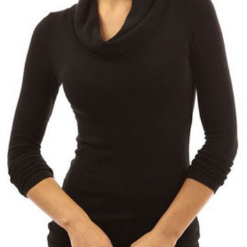 Cupshe All Day Long Turtleneck Top