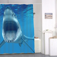 Shark special shower curtains special custom shower curtains that will make your bathroom adorable