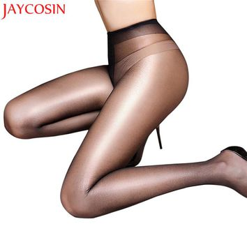 Hosiery tights Sexy pantyhose solid Women Silk collant sheer pantyhose bodystocking club Thin leg tight High Stockings new JN25A