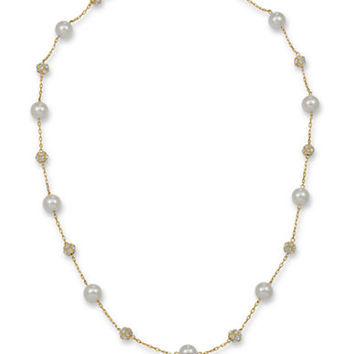 Carolee Hand-Polished Simulated Pearl Necklace