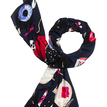 Kate Spade Party Table Scene Scarf Multi ONE