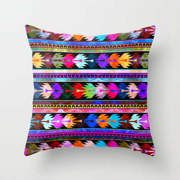 Mexicali #2 Throw Pillow by Schatzi Brown