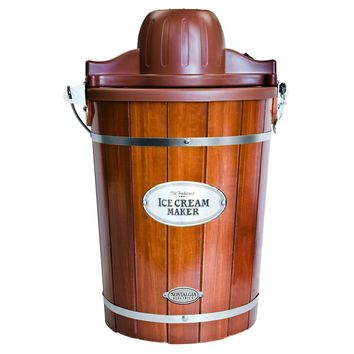 Nostalgia ICMP600WD Vintage Collection 6 qt. Wood Bucket Electric Ice Cream Maker with Easy-Clean Liner | Overstock.com Shopping - The Best Deals on Specialty Appliances