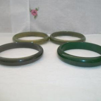 Vintage Green Bangle Bracelets Retro Olive Rockabilly Costume Jewelry Fashion Accessories For Her