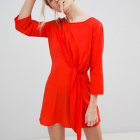 Vero Moda Tie Front Shift Dress at asos.com