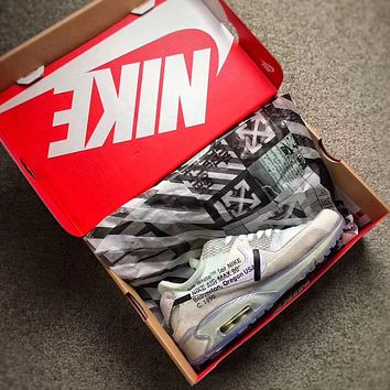 NIKE OFF-WHITE x Air Max 90Ice 10X Ice Blue Men Sneaker AA7293