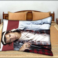"""Harry Styles Bandana One Direction - 20 """" x 30 """" inch,Pillow Case and Pillow Cover."""