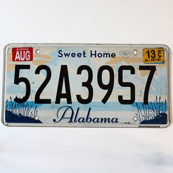 2013 Alabama Sweet Home License Plate 52A39S7