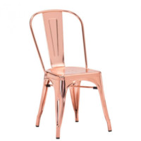 Helio Dining Chair | Rose Gold