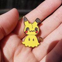 Mimikyu Pokemon Fan Art Brooch - Soft Enamel Pin