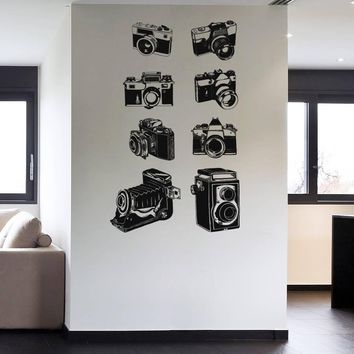 ik1139 Wall Decal Sticker camera film studio photographer