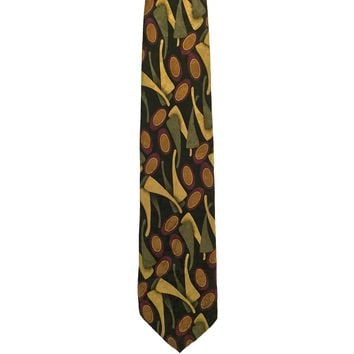 Cellini Linea Uomo Novelty Wide Silk Tie - Black