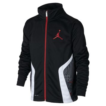 Jordan Stay Cool Boys' Training Jacket, by Nike Size Small (Black)