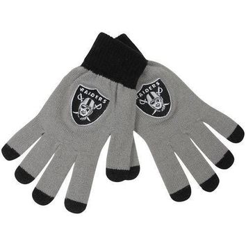 Oakland Raiders Stretch Knit Gloves with Texting Tips NFL