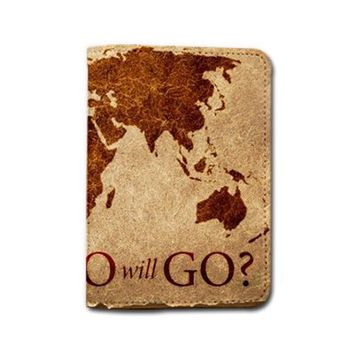 World Map Who Will Go Passport Holder - Customized Cute Travel Passport Covers - Passport Wallet_Emerishop