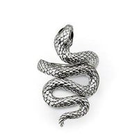 HIISSS!   Through Some Shade With Your Own Silver Snake Ring!  Celebrity Style!
