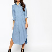 Never Fully Dressed Chambray Oversize Dress with Pockets