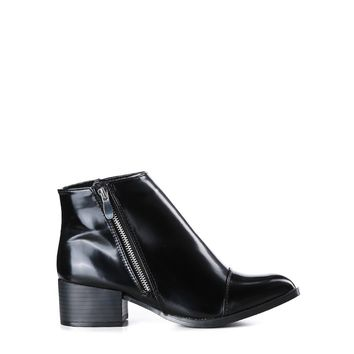 Unlimited Patent Leather Booties