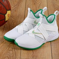 Nike LeBron Soldier 12 White Green Sneakers - Best Deal Online
