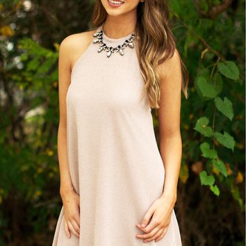 Sparkle Knit Halter Dress