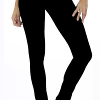 Women's Black Brazilian Moleton Jeggings