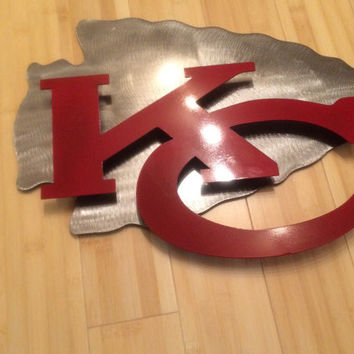 Kansas city Chiefs 2D wall art, metal sign, custom
