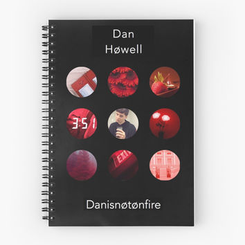 'Dan Howell Blurryface Album' Spiral Notebook by Lucie Duah