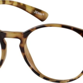 Tortoiseshell Flexible Plastic Full-Rim Frame #2068 | Zenni Optical Eyeglasses
