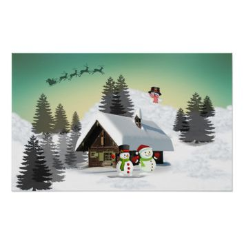 Winter Christmas Design Poster