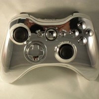 CHROME Xbox 360 Modded Controller (Rapid Fire) COD Black Ops 2, MW2, MOD GAMEPAD