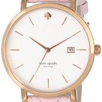kate spade new york Women's 1YRU0356 Watch with Pink Leather Band