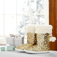 Sparkle Sequin Bootie, Gold