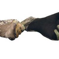 Primos Stretch-Fit Gloves with Sure-Grip and Extended Cuff, Mossy Oak New Break-Up