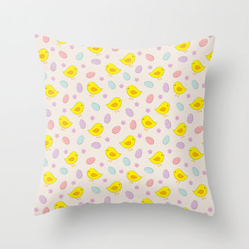 Easter pattern Throw Pillow by EDrawings38