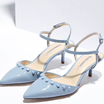 Design Stylish Shoes Summer Rivet Pointed Toe With Heel Sandals [4918349188]