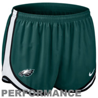 Nike Philadelphia Eagles Women's Tempo Performance Running Shorts - Midnight Green
