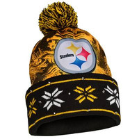 Pittsburgh Steelers Official NFL Big Logo Light Up Printed Beanie