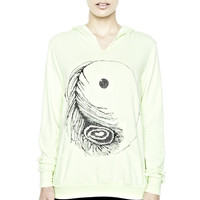 Duffy Crystal Ying Yang Pullover with Front Slit - VIEW ALL - SHOP