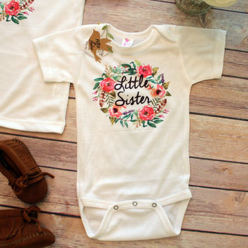 Big Sister Little Sister Outfits, Big Sister Shirt, Little Sister Onesuit®, Cute Baby Clothes, Baby Girl Clothes, Sister Gifts, Family Shirts