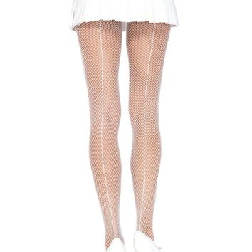 Leg Avenue Female Fishnet W/Back Seam Pantyhose 9015