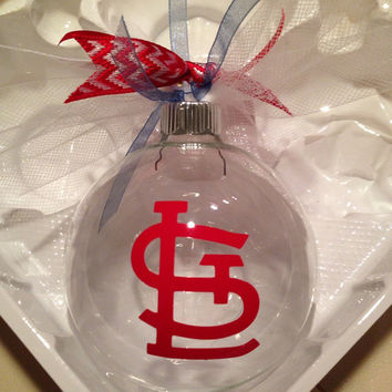 Custom Christmas ornament, personalized Christmas ornament, St. Louis, stl cardinals, cardinal nation, yadi, STL, baseball