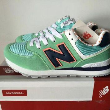 QIYIF new balance 574 women sport casual multicolor n words sneakers running shoes