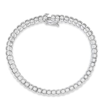 10K White Gold 3ct. TDW Diamond Tennis Bracelet