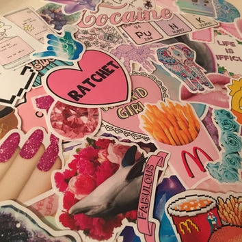 500+ stickers to choose from, you pick! Tumblr, indie, kawaii & more!
