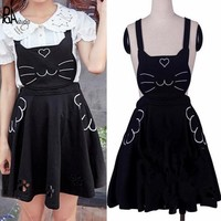 Kawaii Cat Pinafore Skirt