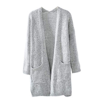 Fashion Women Long Sleeve loose knitting cardigan sweater Womens Knitted Female Cardigan With High Quality Hot Sale