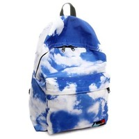 Blue and White Cloud Backpack