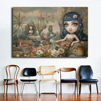 Katy Perry's Daisy By Mark Ryden Wall Art Canvas Posters Prints Painting Wall Pictures For Office Living Room Home Decor Artwork