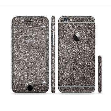 The Black Glitter Ultra Metallic Sectioned Skin Series for the Apple iPhone 6s